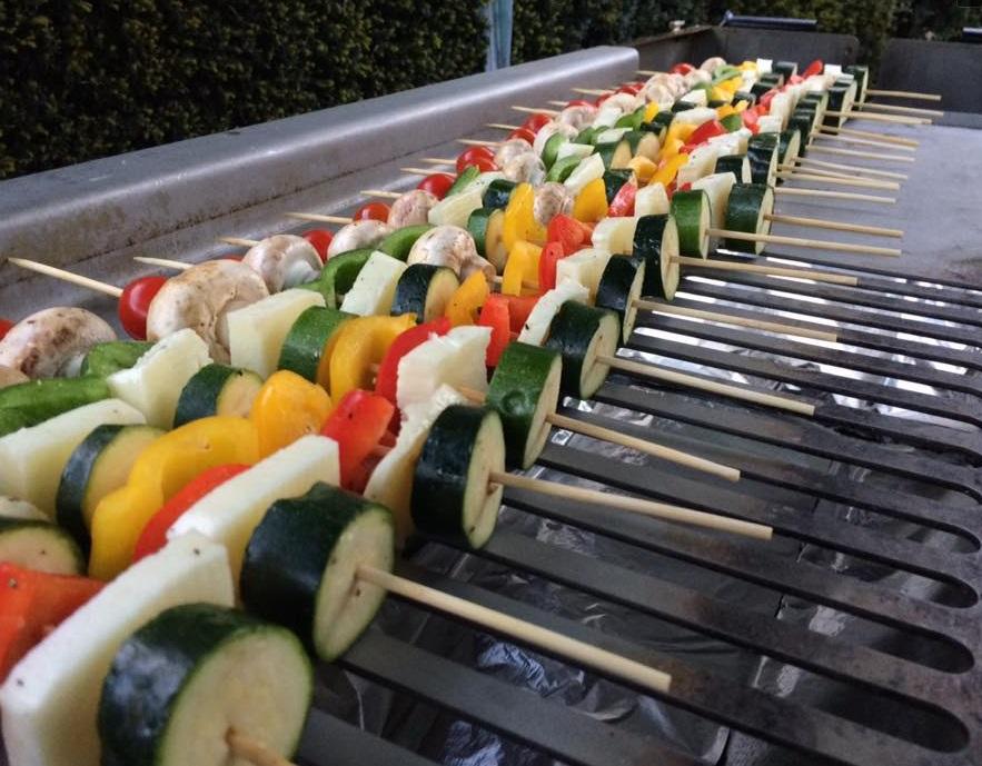 BBQ Menu - Vegetarian Skewers