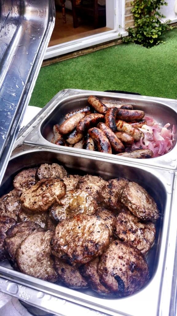 BBQ Menu - Burgers And Sausages