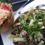 Freshly Made Coleslaw And Salad
